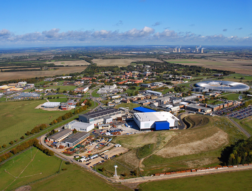An aerial of the Rutherford Appleton Laboratory (credit STFC).